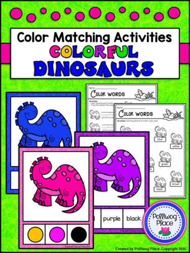 Color Matching Dinosaur Activities