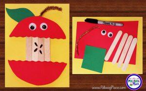 Craft Stick Apple
