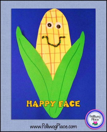 Happy Corn Cob Craft