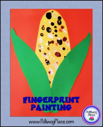 Corn with Fingerprint Painting