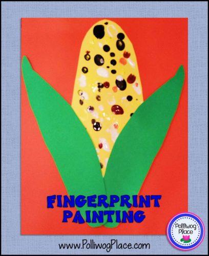 Corn with Fingerprint Painting