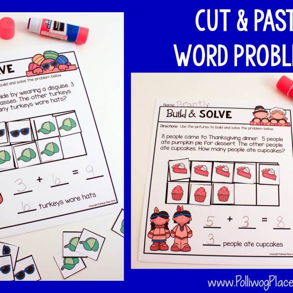 Modeling Word Problems – A Thanksgiving Freebie