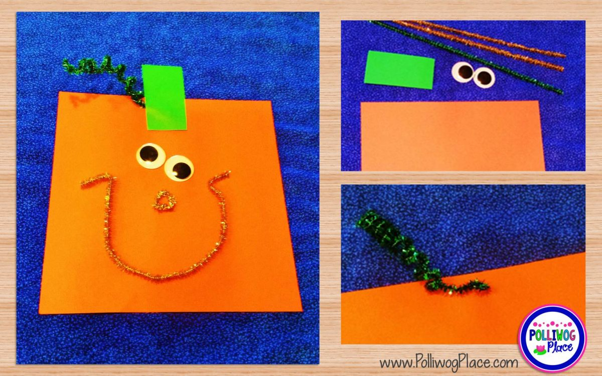 Square Pumpkin Craft