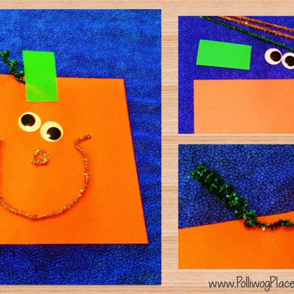 Square Pumpkin Craft