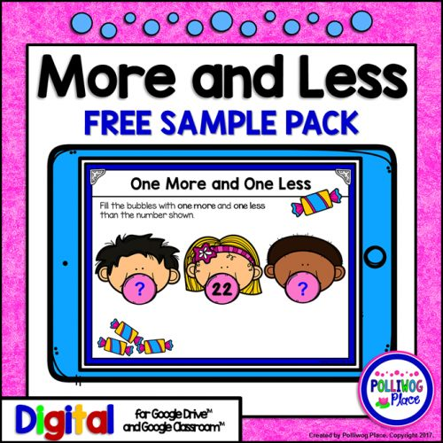 More and Less Number Sense Activity for Your Digital Classroom