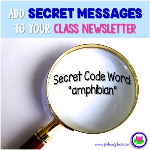 Add secret messages to your class newsletter