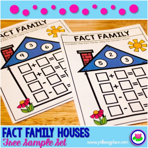 math fact family houses - free sample set
