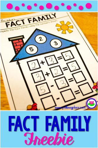 Download the Fact Family Houses Freebie