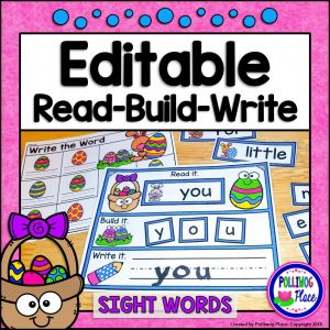 Editable Read Build Write Sight Words - Easter