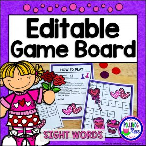 Sight Word Game Board - Valentine