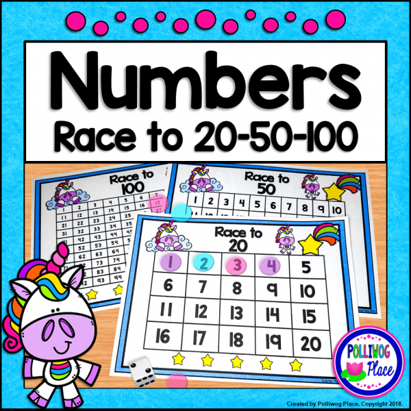 Racing Number Game - Unicorns Cover SM