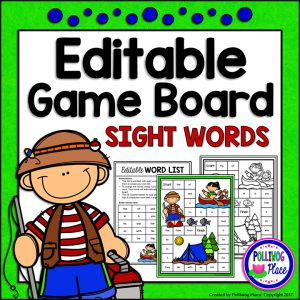 Camping Sight Word Board Game 01