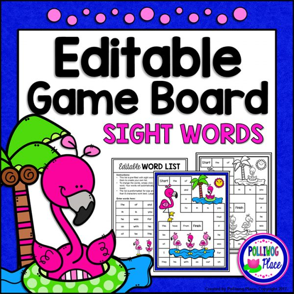 Flamingo Sight Word Board Game 01
