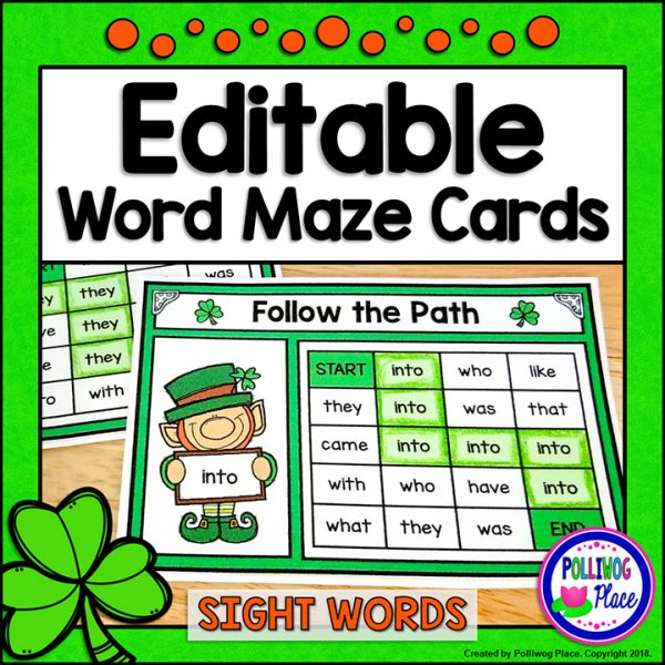St. Patrick's Day Sight Word Mazes