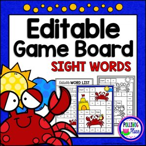 Summer Crabs Sight Word Board Game 01