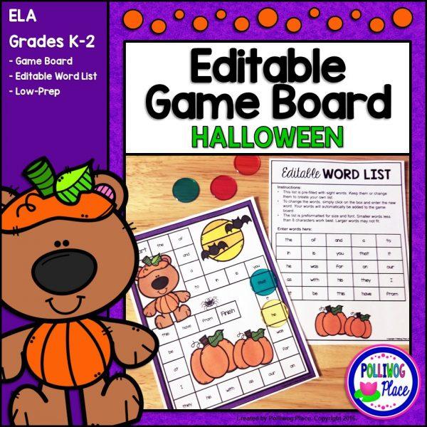 Editable Games Boards Halloween SMJ