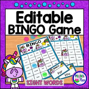 Editable Unicorn Bingo Game