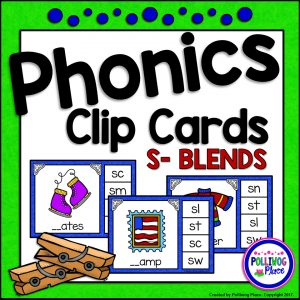 Phonics Clip Cards - S Blends SMJ