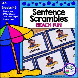 Sentence Scrambles Beach Fun SMJ