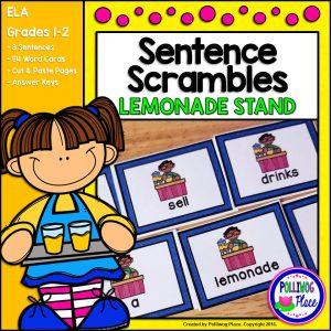 Sentence Scrambles Lemonade Stand SMJ