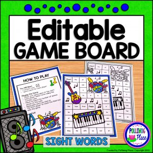 Sight Word Board Game - Rock and Roll SMJ