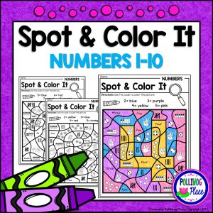 Spot and Color It Numbers 1 to 10 SMJ