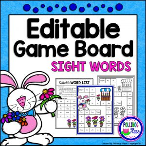 Spring Rabbit Sight Word Game Board SMJ