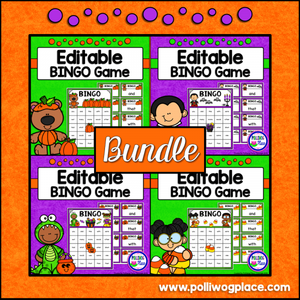 Halloween Sight Word Bingo Bundle