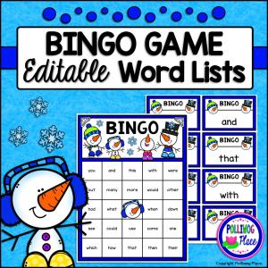 Bingo Game Winter Snowmen