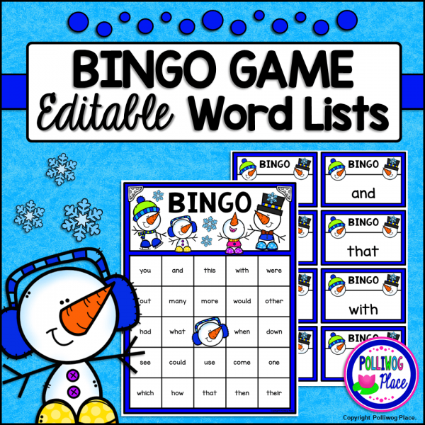 Bingo Game Winter Snowmen