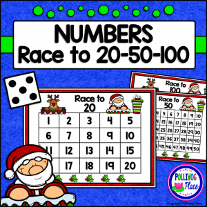 Christmas Number Game - Race to 20 50 100 SM