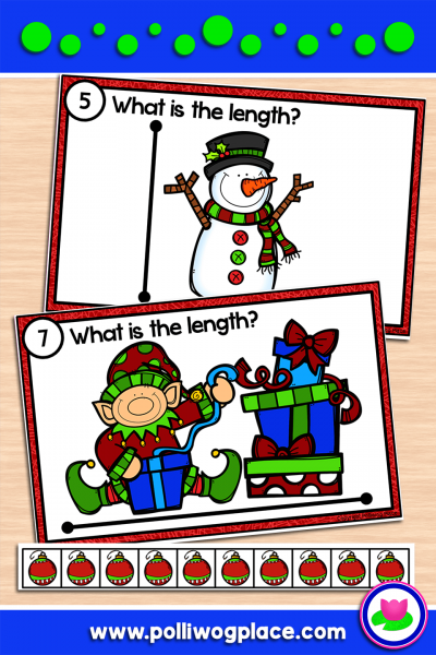 Measuring Length Math Activity - Christmas