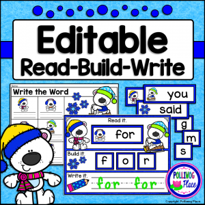 Winter Bears Read Build Write Activity