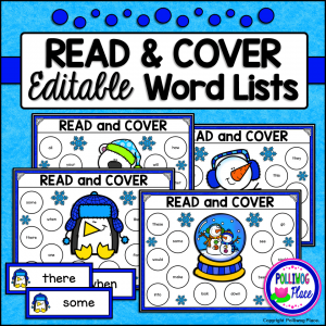 Winter Read and Cover Activity Set