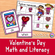 Valentine Math and Literacy Activities