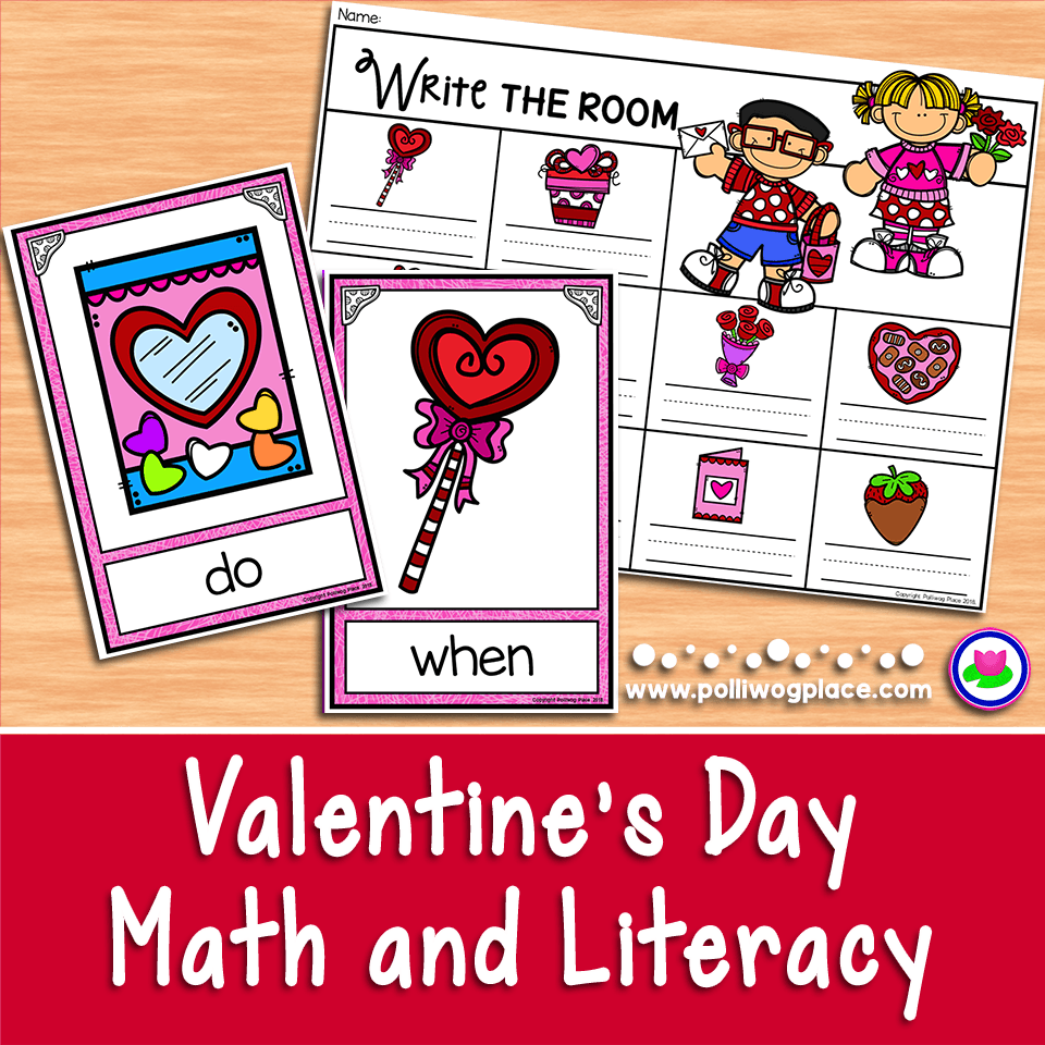Valentine Math and Literacy Activities