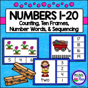 Number Clip Cards - Spring Garden SM