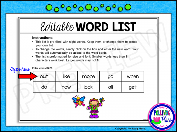 Spring Write the Room Sight Words PREVIEW 02