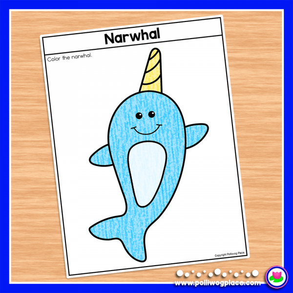 Narwhal Craft Activity_Coloring Page