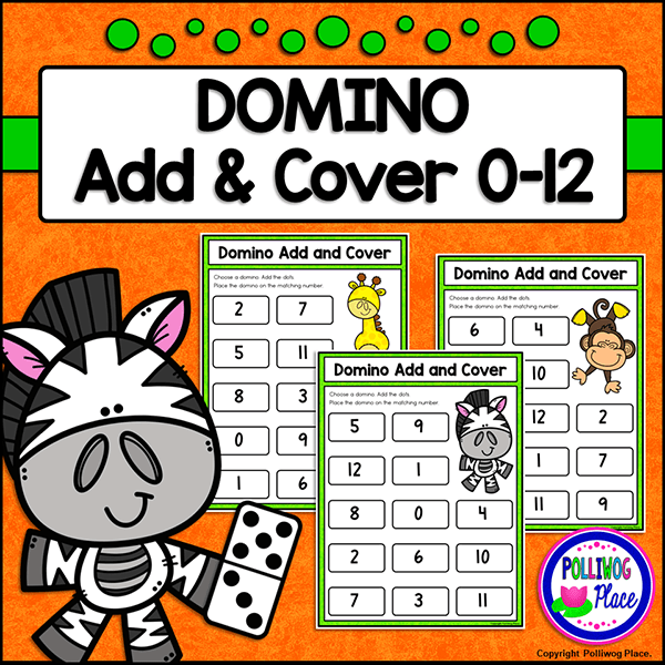 Download your free Domino Add and Cover math activity pack