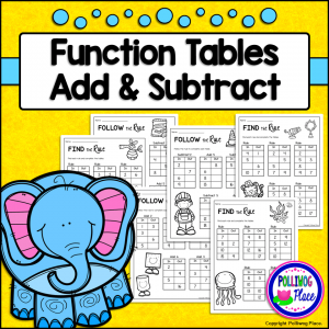 Function Tables Add Subtract